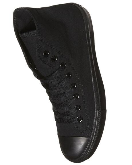 BLACK MONOCHROME WOMENS FOOTWEAR CONVERSE SNEAKERS - SS13310BLKMOW