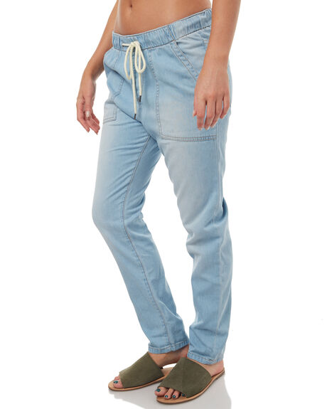 LIGHT BLUE WOMENS CLOTHING ROXY PANTS - ERJD03172BLCW