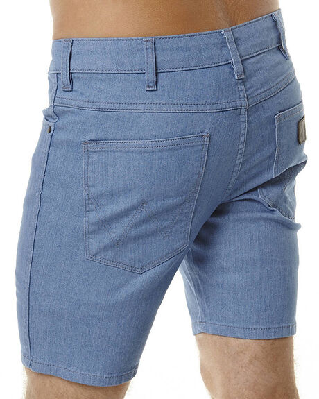 FLAT BLUE MENS CLOTHING WRANGLER SHORTS - W-099432-C83FBLU