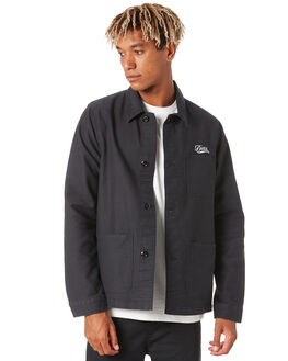 BLACK MENS CLOTHING DEUS EX MACHINA JACKETS - DMA206538BLK