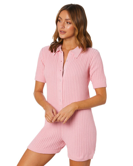 PINK WOMENS CLOTHING RUE STIIC PLAYSUITS + OVERALLS - SW-20-K-16-P-C_PNK