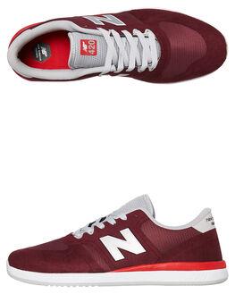 BURGUNDY RED MENS FOOTWEAR NEW BALANCE SKATE SHOES - NM420BRD001