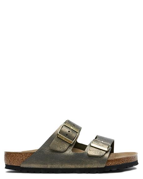 STONE GOLD WOMENS FOOTWEAR BIRKENSTOCK SLIDES - 1014372SGLD