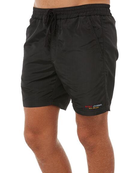 DIRTY BLACK MENS CLOTHING BANKS BOARDSHORTS - WS0071DBL