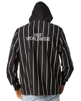 BLACK MENS CLOTHING HUF JACKETS - JK00113-BLACK
