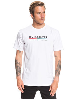 WHITE MENS CLOTHING QUIKSILVER TEES - EQYZT05665-WBB0