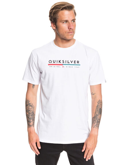 WHITE MENS CLOTHING QUIKSILVER TEES - EQYZT05665-WBB0