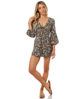 BLACK FLORAL MUSE WOMENS CLOTHING THE FIFTH LABEL PLAYSUITS + OVERALLS - 40170948-2BFM