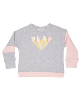 GREY PINK KIDS GIRLS EVES SISTER JUMPERS + JACKETS - 8035020GRM