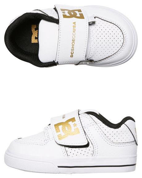 WHITE MET GOLD KIDS TODDLER BOYS DC SHOES FOOTWEAR - ADTS300028WGD