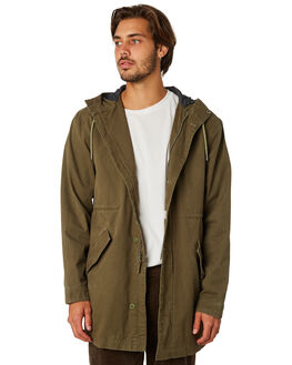 OLIVE MENS CLOTHING RHYTHM JACKETS - JAN19M-JK03-OLI