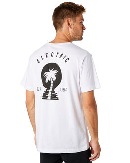 WHITE MENS CLOTHING ELECTRIC TEES - EC-01-42-03WHT