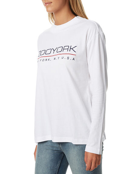 WHITE WOMENS CLOTHING ZOO YORK TEES - ZY-WLA7178WHT