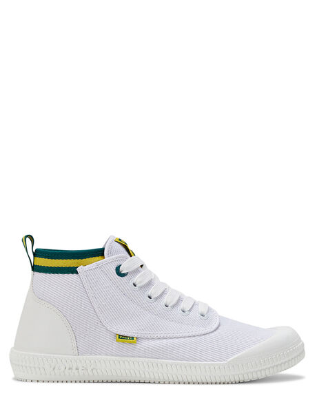 WHITE GREEN GOLD MENS FOOTWEAR VOLLEY SNEAKERS - SSV74015IO1M