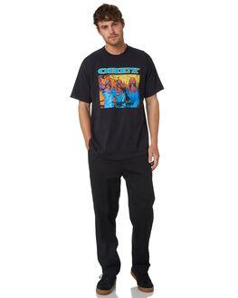 BLACK MENS CLOTHING OBEY PANTS - 142020130BLK