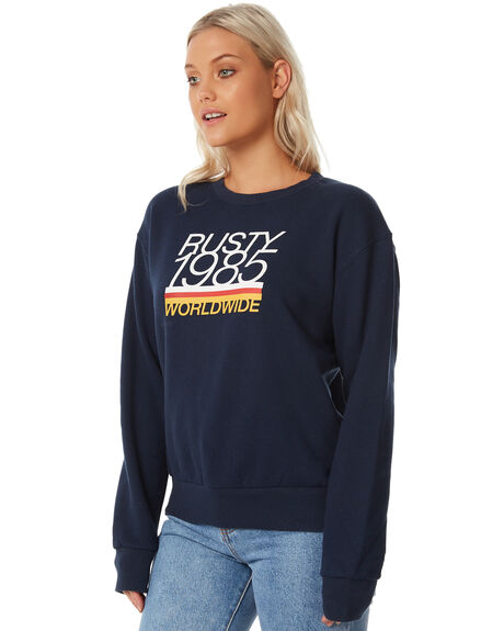 NAVY WOMENS CLOTHING RUSTY JUMPERS - FTL0674NVB