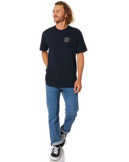 NAVY MENS CLOTHING BRIXTON TEES - 16170NVY