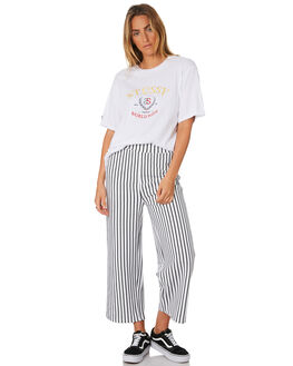 WHITE WOMENS CLOTHING STUSSY TEES - ST196006WHI
