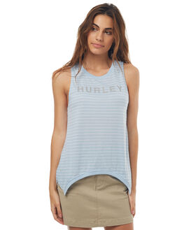 LIGHT ARMORY BLUE WOMENS CLOTHING HURLEY SINGLETS - AGSICOMS4LZ