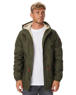 MOSS GREEN MENS CLOTHING ELEMENT JACKETS - 176458MFRN