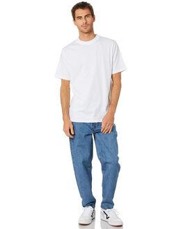 WHITE MENS CLOTHING MR SIMPLE TEES - M-01-62-03WHT