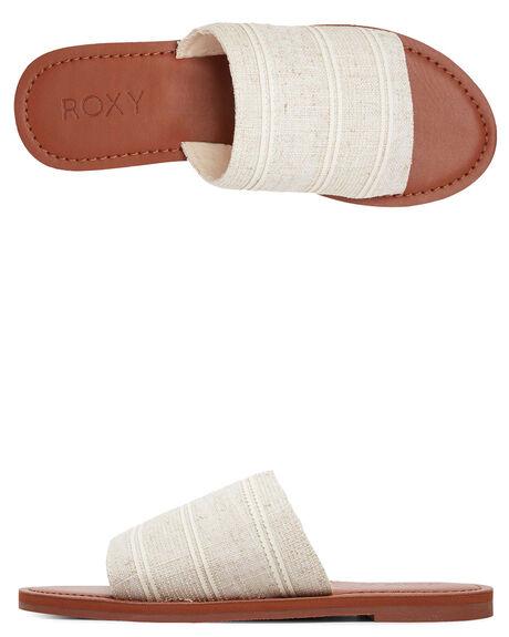 WHITE/TAN WOMENS FOOTWEAR ROXY FASHION SANDALS - ARJL200654-WT0
