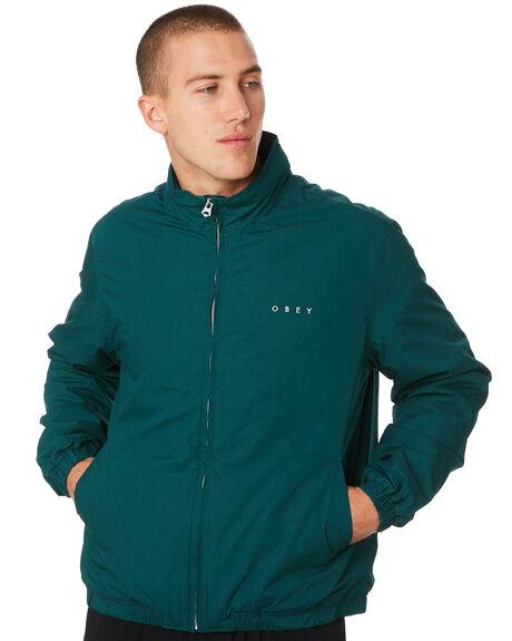DARK TEAL MENS CLOTHING OBEY JACKETS - 121800338DRKTL