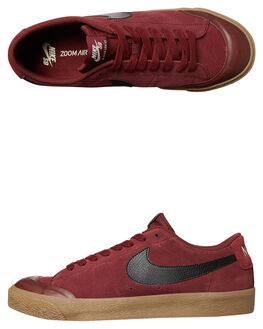 RED BLACK GUM MENS FOOTWEAR NIKE SKATE SHOES - 864348-609