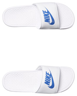 WHITE VARSITY BLUE MENS FOOTWEAR NIKE SLIDES - 343880-102