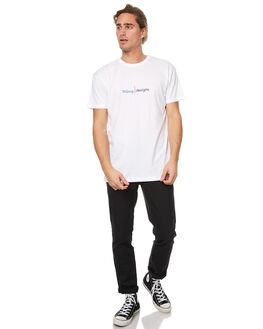 WHITE MENS CLOTHING STUSSY TEES - ST077009WHT