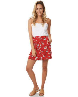 ROUGE FLORAL WOMENS CLOTHING RUE STIIC SKIRTS - S118-66ROU