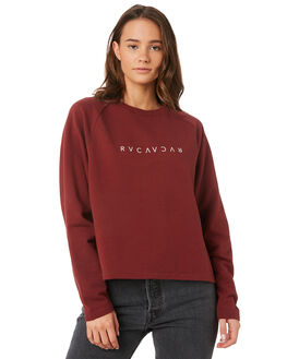 BORDEAUX WOMENS CLOTHING RVCA JUMPERS - R293151BOR