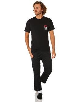 BLACK MENS CLOTHING VANS TEES - VN0A49Q6BLKBLK