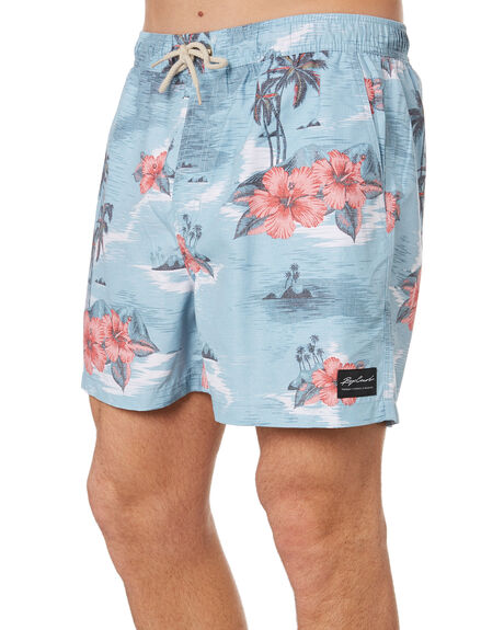 BLUE RED MENS CLOTHING RIP CURL BOARDSHORTS - CBOMX10875