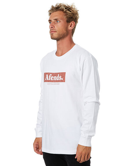WHITE MENS CLOTHING AFENDS TEES - 02-02-080WHT