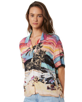 BEACH SCENE WOMENS CLOTHING COOLS CLUB FASHION TOPS - 303-CW5BEACH