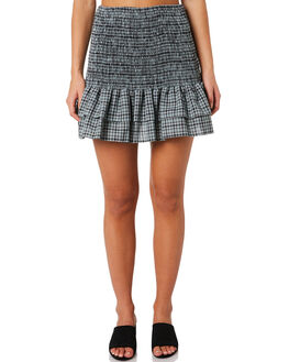BUCKINGHAM CHECK WOMENS CLOTHING MLM LABEL SKIRTS - MLM512BBUC