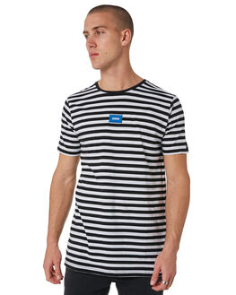 BLACK WHITE MENS CLOTHING ZANEROBE TEES - 145-METBLKW