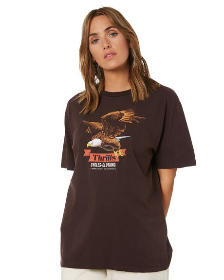 POSTAL BROWN WOMENS CLOTHING THRILLS TEES - WTH21-112CPBRN