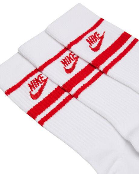 WHITE UNIVERSITY RED MENS CLOTHING NIKE SOCKS + UNDERWEAR - CQ0301102