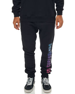 BLACK MENS CLOTHING RUSTY PANTS - PAM0932BLK