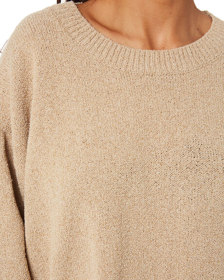 NATURAL WOMENS CLOTHING ZULU AND ZEPHYR KNITS + CARDIGANS - ZZ3225NAT