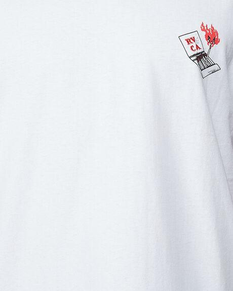 WHITE MENS CLOTHING RVCA TEES - RV-R107066-WHT