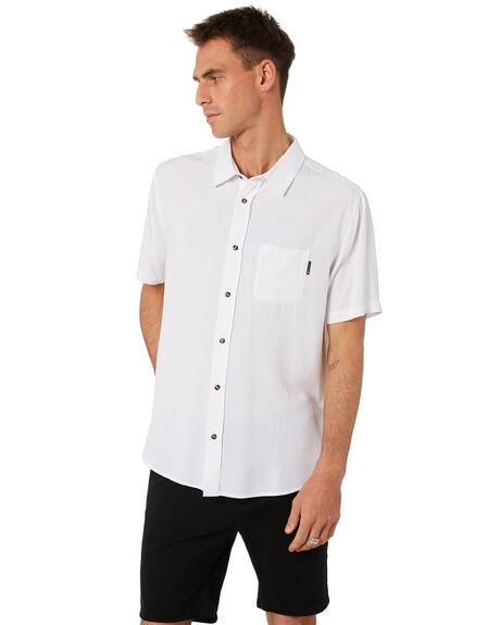 WHITE MENS CLOTHING RUSTY SHIRTS - WSM0834WHT