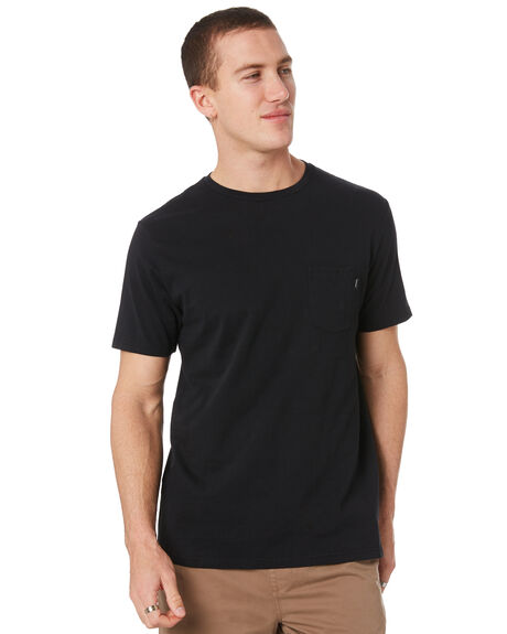 BLACK MENS CLOTHING RIP CURL TEES - CTESY20090