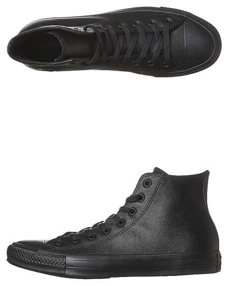 0cff1b9657c5c Converse Mens Chuck Taylor All Star Hi Top Leather Shoe - Black ...