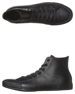BLACK MONOCHROME WOMENS FOOTWEAR CONVERSE SNEAKERS - SS135251BLKMOW