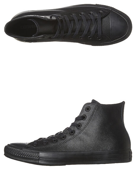 5bade49a330a Converse Womens Chuck Taylor All Star Hi Top Leather Shoe - Black ...
