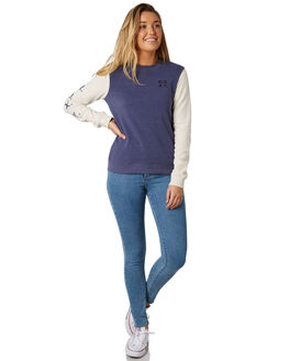 CROWN BLUE WOMENS CLOTHING ROXY JUMPERS - ERJFT03841BQY0