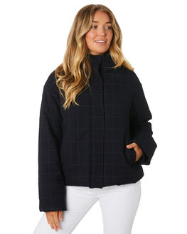 MIDNIGHT PLAID WOMENS CLOTHING COOLS CLUB JACKETS - 505-CW2MID